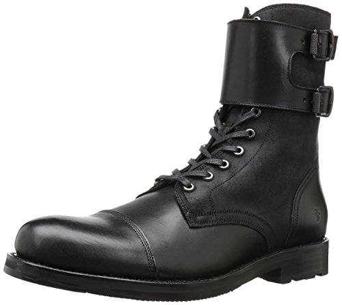 Frye Mens Officer Cuff Combat Boot Nero