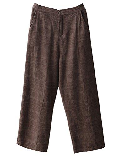 Jacquard Crop Pants - 1