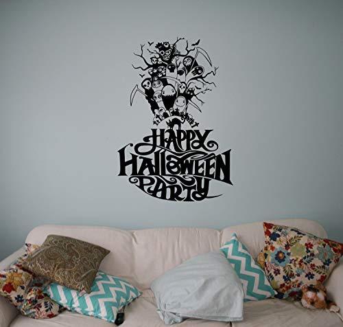 CELYCASY Halloween Party Vinyl Decal Wall Halloween Vinyl Sticker Holiday Home Interior Decor Art Murals 29(hlw)]()