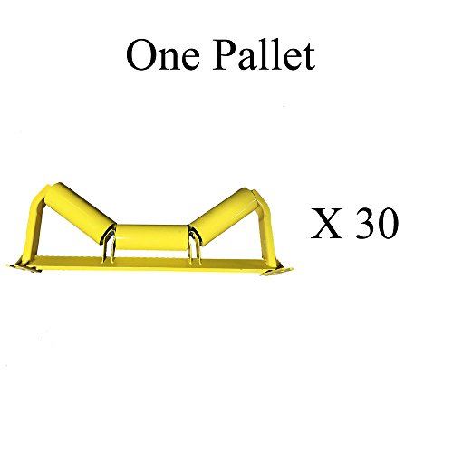 """C5-35E-36, C35-36 - One Pallet (X30) of Trougher Equal Idlers – 35 Degrees, 5"""" Diameter, 36"""" Belt Width by AIS Construction Equipment"""