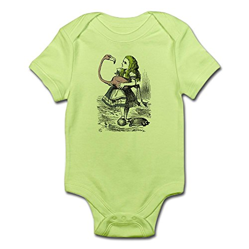 CafePress Alice In Wonderland Baby One Piece - Cute Infant Bodysuit Baby - Green Glasses John Lewis