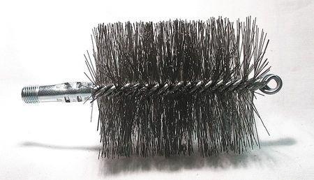 Pellet Brushes Cleaning Stove (Flue Brush, Dia 3 3/4, 1/4 MNPT, Length 8)
