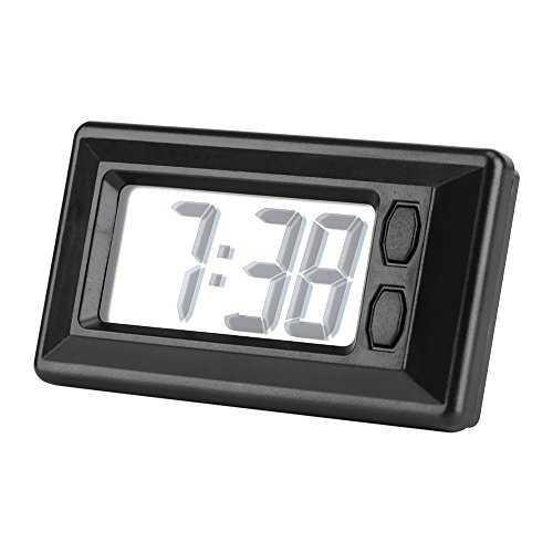 Fdit LCD Digital Table Car Dashboard Desk Electronic Clock Date Time Calendar -