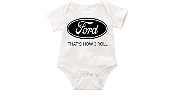 cc9f74630 TWUSA TallyWear USA Ford Thats How i roll Onesie Romper: Amazon.ca: Clothing  & Accessories