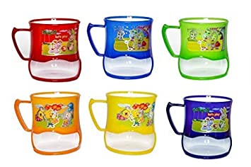Kieana Cartoon Printed Mugs With Cookie Slot For Birthday Return Gifts Kids Pack Of