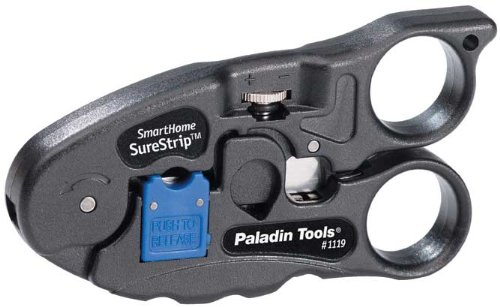 Greenlee Communications 1119 Combo UTP and Coax SureStrip Cutter (Paladin Coax Stripper)