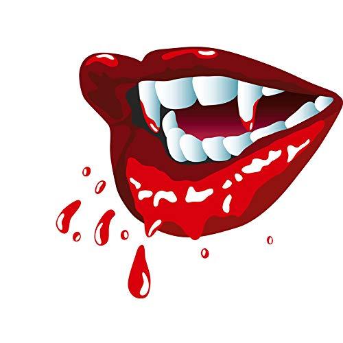 PAINTING ILLUSTRATION CARTOON VAMPIRE LIPS TEETH BLOOD ART PRINT POSTER -