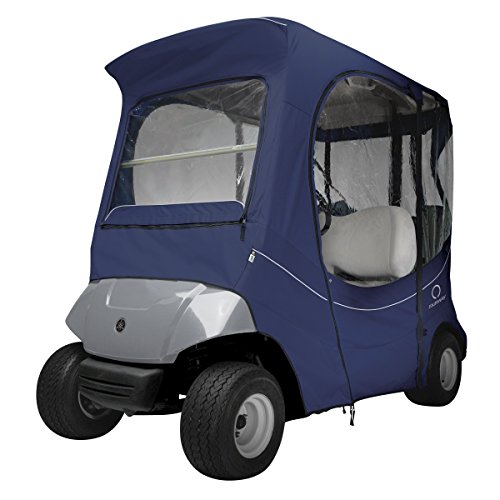 (Classic Accessories Fairway Golf Cart FadeSafe Enclosure For Yamaha, Short Roof, Navy)