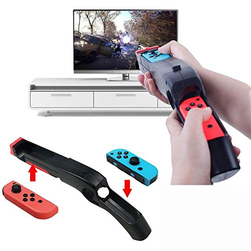 Game Gun Compatible with Nintendo Switch for Wii Remote Nunchuck Shoot Sport Games Like Wolfenstein II: The New Colossus, Big Buck Hunter Bundle, etc(2 Pack) (Big Buck Hunter Game With 2 Guns)