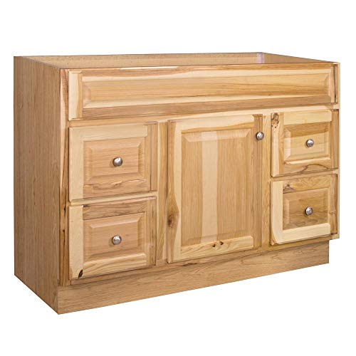 Hampton 48 in. W x 21 in. D x 33.5 in. H Bathroom Vanity Cabinet Only in Hickory (Hickory Bathroom Vanity)