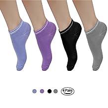 BADALink Yoga Socks Non Slip with Silicone Dot for Pilates, Barre, Bikram