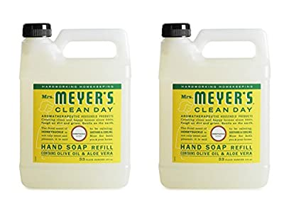 Mrs. Meyer's Clean Day Liquid Hand Soap Refill, Honeysuckle, 33 Ounce - 2 PK