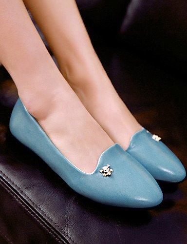 us6 Flats Toe Talón azul Zapatos Eu36 De rojo Casual amarillo Negro Sintética Piel Uk4 de Black Pdx Cn36 Mujer Punta Plano TAgBvq