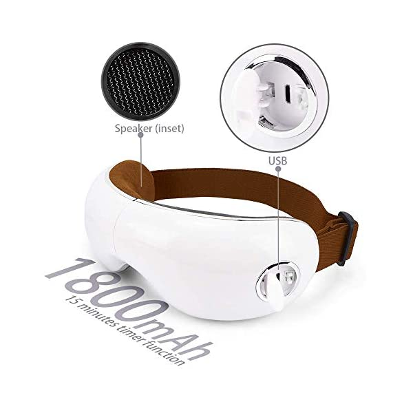 SKANDAS® Massaggiatore per occhi (modello 2020) - Maschera elettrica per occhio – Massaggiatore bicchieri con massaggio… 6 spesavip