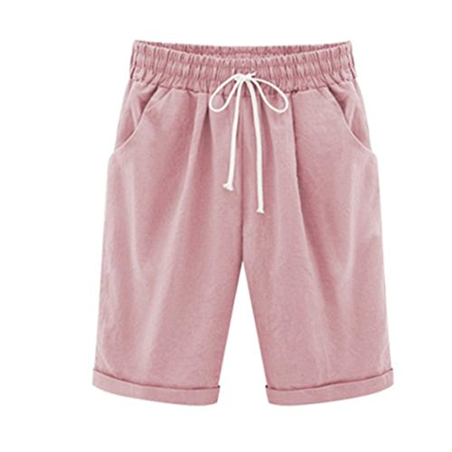 Used, Women Plus Size Linen Short Pants Casual CottonElastic for sale  Delivered anywhere in USA