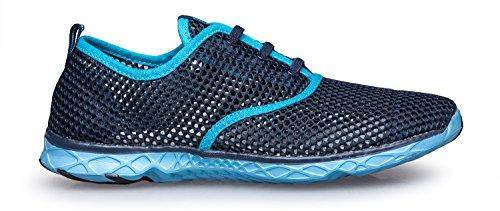 Zhuanglin Frauen Mesh Slip auf Wasser Schuhe Blau