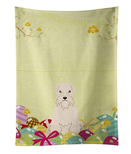 Caroline's Treasures Easter Eggs Soft Coated Wheaten Terrier Kitchen Towel, Multicolor, 25