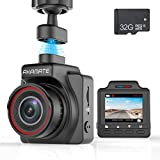 Dash Cam, AKAMATE Magnetic Dashboard Recording Camera 1.5' Mini Dvr Car Camera Full HD 1080P, 145° Wide Angle, Night Vision, G-Sensor, Loop Record, Wdr, Parking Mode, Motion Detection, with 32GB Card