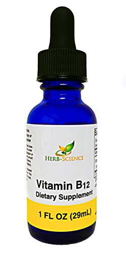 Liquid Vitamin B12 Cobalamin Liquid, Alcohol-Free VIT B-12 Supplement Support Nerve Cells and Tissue, Maintain Heart Health, Boost Energy Levels and Promotes Healthy Skin - Herb-Science