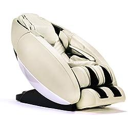 """Human Touch """"Novo"""" Full Body Coverage Zero-Gravity L-Track Massage Chair, Cream Color Option"""