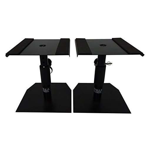 Gorilla Stands GSM-50 Speaker Desktop Studio Monitor Stands Table Top...