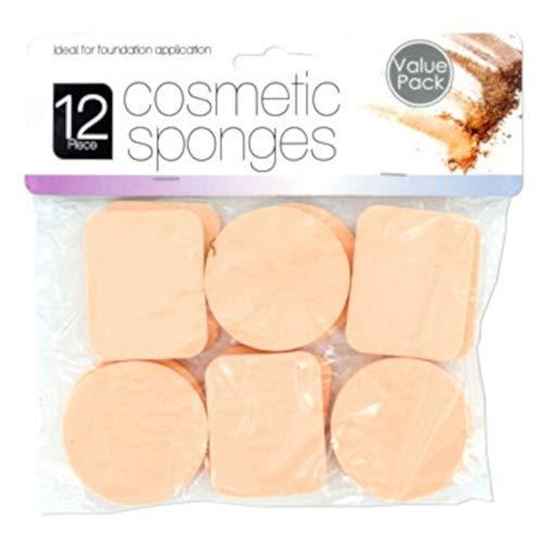 Blender Makeup Foundation Sponges For Beauty - Latex Free Blending for Full Coverage Powder, Cream, Liquid Cosmetics - Long Lasting, Disposable Foam Applicator Puffs - Bulk 12 Pack