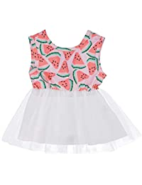 SUPEYA Baby Girls Watermelon Tutu Dress Sleeveless Princess Infant Tulle Sundress