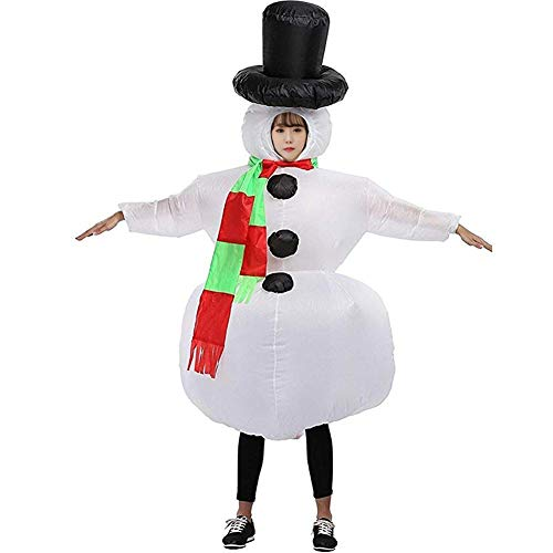 HUAYUARTS Snowman Inflatable Christmas Costume Women Blow up