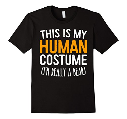 Mens This Is My Human Costume I'm Really A Bear T-Shirt 2XL - This Bear