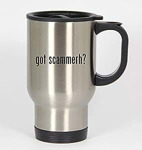 got scammerh? - 14oz Silver Travel Mug