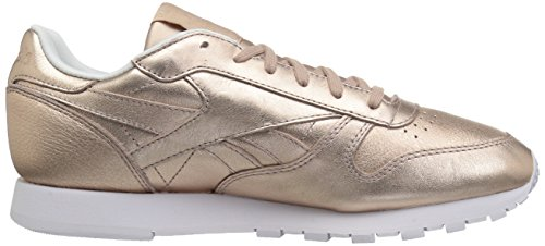 Fashion Metallic Leather Women's Reebok Sneakers Metal Melted Pearl White Classics Peach xXPCSqf