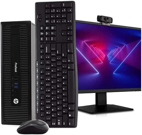 HP 600 G1 SFF Computer Desktop PC, Intel Core i5 3.2GHz, 16GB Ram, 128GB M.2 SSD, 1TB HDD, Wireless Keyboard & Mouse, WiFi | Bluetooth, New 1080p Webcam, 22″ FHD LED Monitor, Win 10 Pro (Renewed)