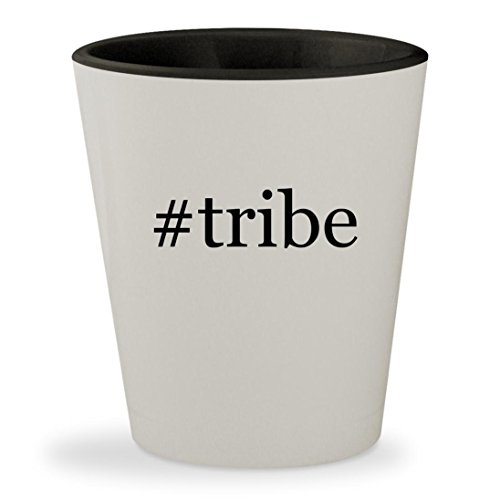 #tribe - Hashtag White Outer & Black Inner Ceramic 1.5oz Shot - Bronson Sunglasses Tribes Mosley