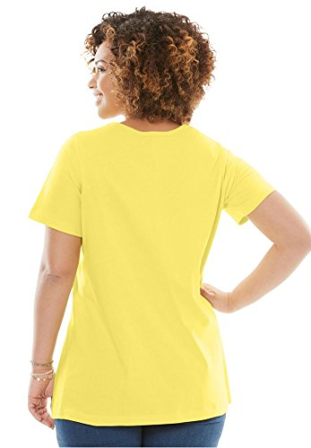 Women's Plus Size Perfect Crewneck Tee Dusty Coral,2X