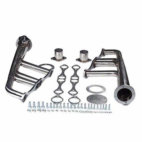 Mophorn Exhaust HeaderLake Style Headers For SBC 265-400 V-8 Chevy Stainless Steel Street Rat (Lake Header for SBC 265-400 V-8) ()