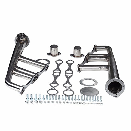 Sbc Exhaust - Mophorn Exhaust HeaderLake Style Headers For SBC 265-400 V-8 Chevy Stainless Steel Street Rat (Lake Header for SBC 265-400 V-8)