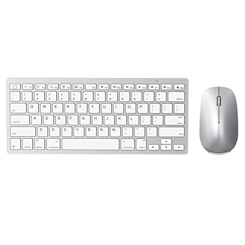 Wireless Keyboard and Mouse for iPad (iPadOS 13 and Above), SPARIN Bluetooth Keyboard Mouse Combo for iPad, Compatible with iPad 10.2 / iPad Pro/iPad Air/iPad Mini - Silver White