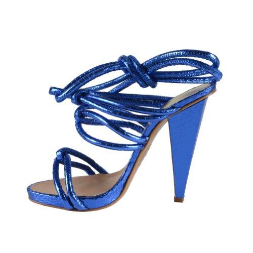 Dsquared Mujeres Blue Wrap Around Sandalias De Correa De Tobillo Azul