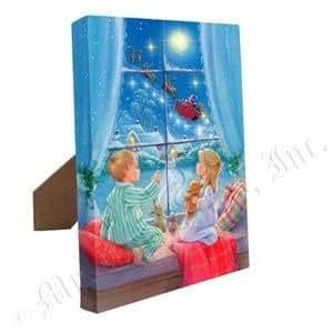 Amazon.com: Gold Label Mr Christmas Illuminart Canvas Art