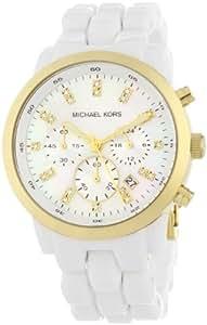 Michael Kors MK5218 - Reloj de mujer de cuarzo, correa de plástico color blanco