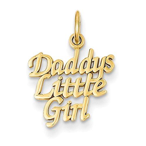 Lex & Lu 14k Yellow Gold Daddy's Little Girl Charm LAL73866