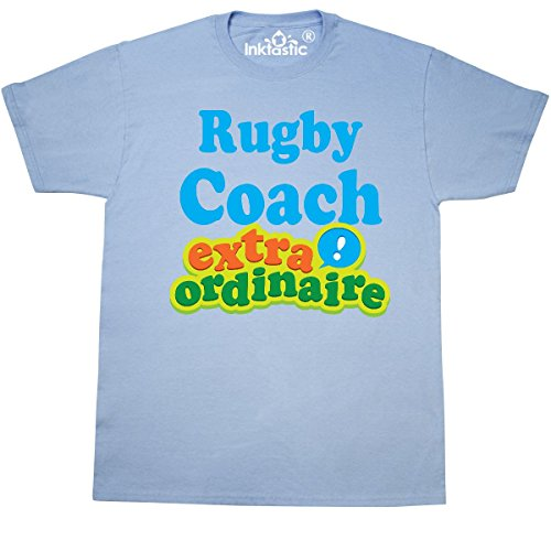 inktastic Rugby Coach Extraordinaire T-Shirt XX-Large Light Blue (454 Rugby)