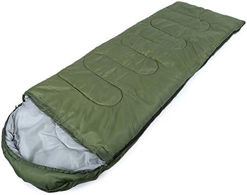 Lulalula - Saco de dormir rectangular, cómodo y ligero, con bolsa de compresión para camping, senderismo, mochila, viajes y otras actividades al aire libre, ...