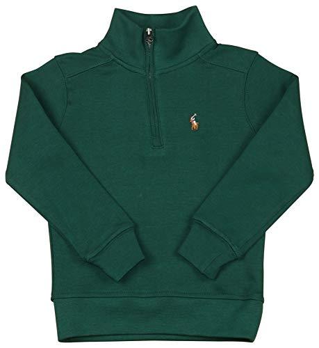 Polo RL Little Boy's (2T-4T) Half Zip Mock Neck Sweater-Green Pine-3T