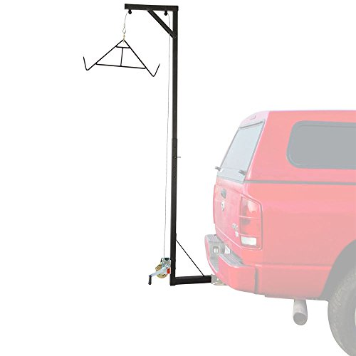 Fixed Hitch - Big Game Deer Fixed Hitch Mount 300 lb Winch Irrigating Hoist with Lift Gambrel