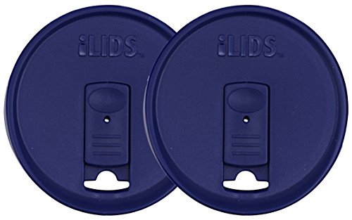 ILids Mason Jar Drink Lid, Regular Mouth, Cobalt, 2-Pack