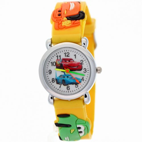 TimerMall kids watch cars Pattern Cartoon Watches With Slap On Snap Round Dial Cartoon Style Snap