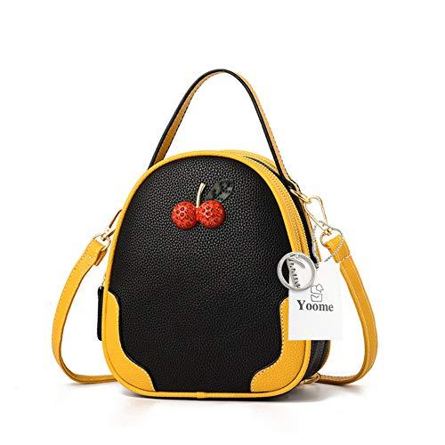 yellow Carino Donne Borse Black Frizione Borsa Yoome Ciliegia In Piccola Crossbody Spalla Mini Girls Uw5TOdq