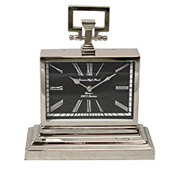 Urban Designs Barnes High Street Classic Square Nickel Table Clock
