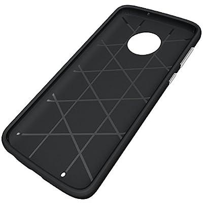 Moto G6 Case,NiuBox Gear Textured Slim Fit Dual Layer [PC + TPU Hybrid] Anti-Slip Shock Absorption Protective Phone Case Cover for Motorola Moto G6 (2018) by NiuBox